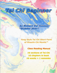 book cover of TAI CHI BEGINNER CLASS READING MANUAL